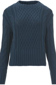 Acne Lia Cable Knit Jumper - Lyst