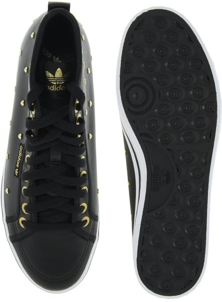 Adidas Honey Gold Heart Mid Trainers In Black Lyst