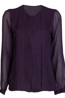 Akris Pleated Blouse - Lyst