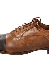 Alexander Mcqueen Banded Cap Toe Oxford in Brown (e) - Lyst