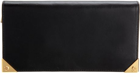Alexander Wang Prisma Long Compact Wallet in Black (gold) - Lyst