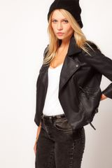 ASOS Collection Asos Pu Quilted Biker Jacket - Lyst