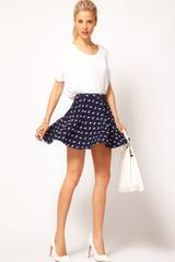 ASOS Collection Asos Skater Skirt in Horse Print - Lyst