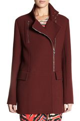 Balenciaga Officer Coat in Red (chocolate) - Lyst