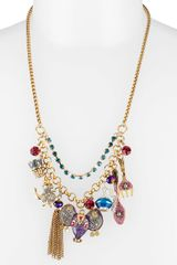 Betsey Johnson  'Morocco Adventure' Frontal Necklace - Lyst