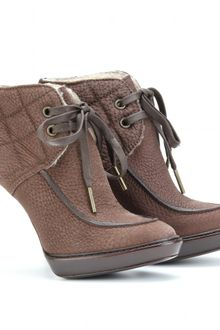 Burberry Prorsum The Field Cardcross Platform Ankle Boots - Lyst