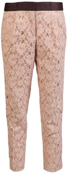 By Malene Birger Lace Trouser - Lyst