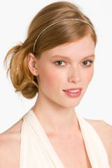 Cara Accessories Skinny Crystal Headband - Lyst