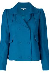 Carven Short Pea Coat - Lyst