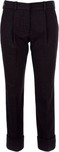 Chloé Cropped Trouser in Black (grey) - Lyst