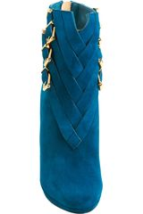 Christian Louboutin Suede Troop in Blue (gold) - Lyst