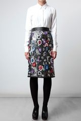 Christopher Kane Embroidered Chainmail Pencil Skirt in Multicolor (multicoloured) - Lyst