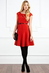 Coast Lloyd Dress in Red (orange) - Lyst