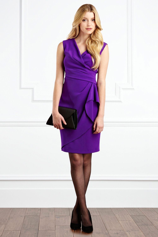Lyst - Coast Emmy Crepe Dress in Purple