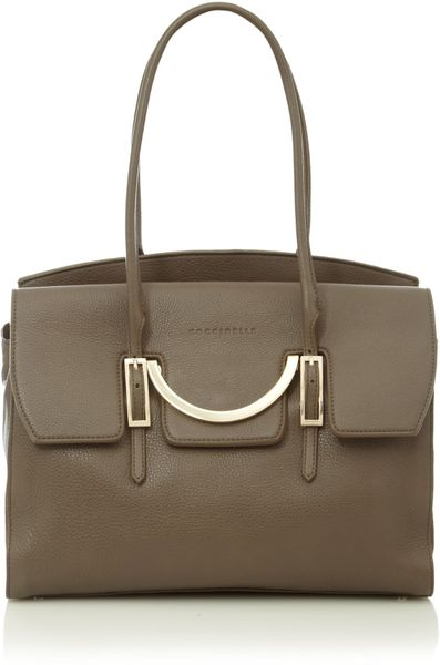 Coccinelle Celeste Tote in Gray (taupe)