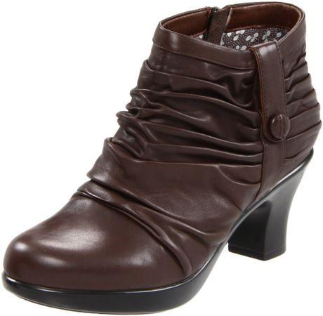 dansko dansko womens buffy ankle boot in brown chocolate