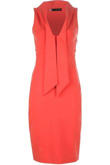 DSquared2 Fitted Plunge Neck Dress - Lyst