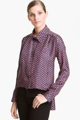 Elizabeth And James Halette Box Print Blouse - Lyst