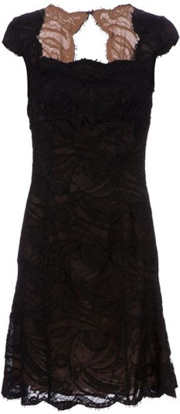 Emilio Pucci Lace Overlay Dress in Black - Lyst