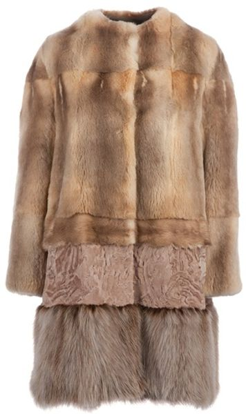 Giambattista Valli Fur Coat in Brown