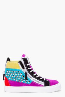 Giuseppe Zanotti Colourblock Studded August Sneakers - Lyst