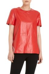 Givenchy Leather Short Sleeve Tee - Lyst