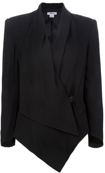 Helmut Lang Draped Blazer in Black - Lyst