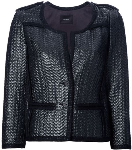 Isabel Marant Braided Edge Jacket in Gray (grey)