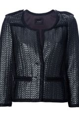 Isabel Marant Braided Edge Jacket in Gray (grey) - Lyst