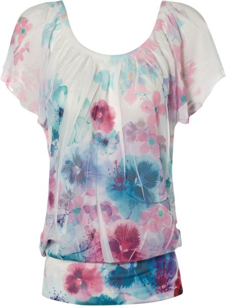 Jane Norman Pansy Sub Tee In White Lyst