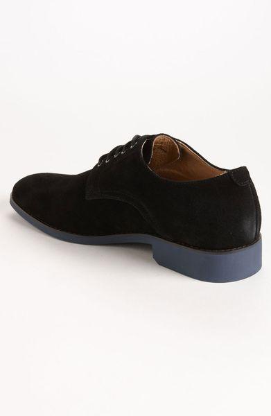 jd fisk vincent suede buck shoe in black for black