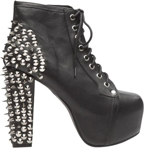 jeffrey campbell spike lita in black lyst. Black Bedroom Furniture Sets. Home Design Ideas