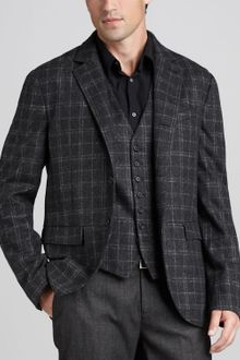 John Varvatos Check Sport Coat - Lyst