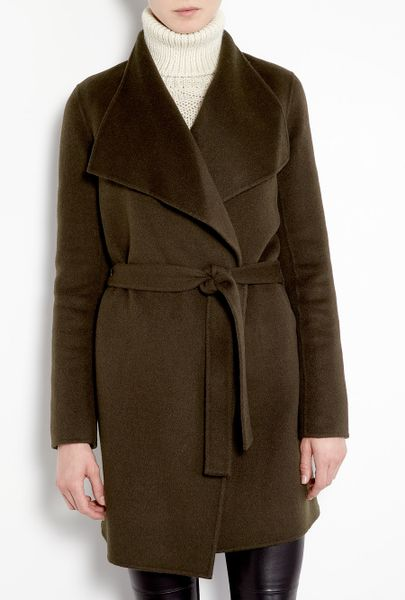 Joseph Lisa Long Double Face Cashmere Belted Coat in Brown