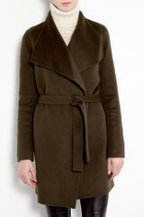Joseph Lisa Long Double Face Cashmere Belted Coat in Brown - Lyst