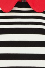 Karen Millen Stripe Polo Knit Dress in Black - Lyst
