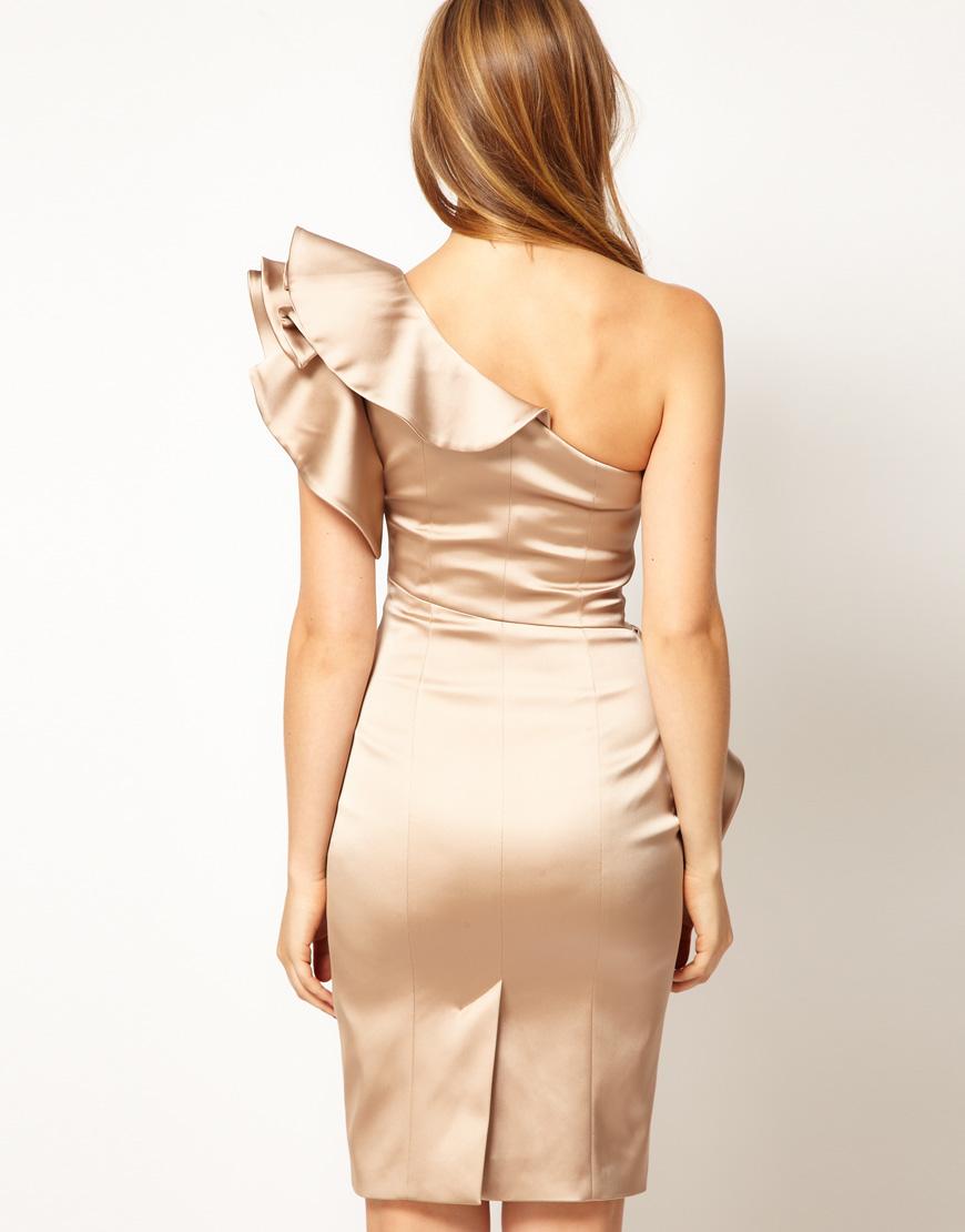 Gold dress karen millen