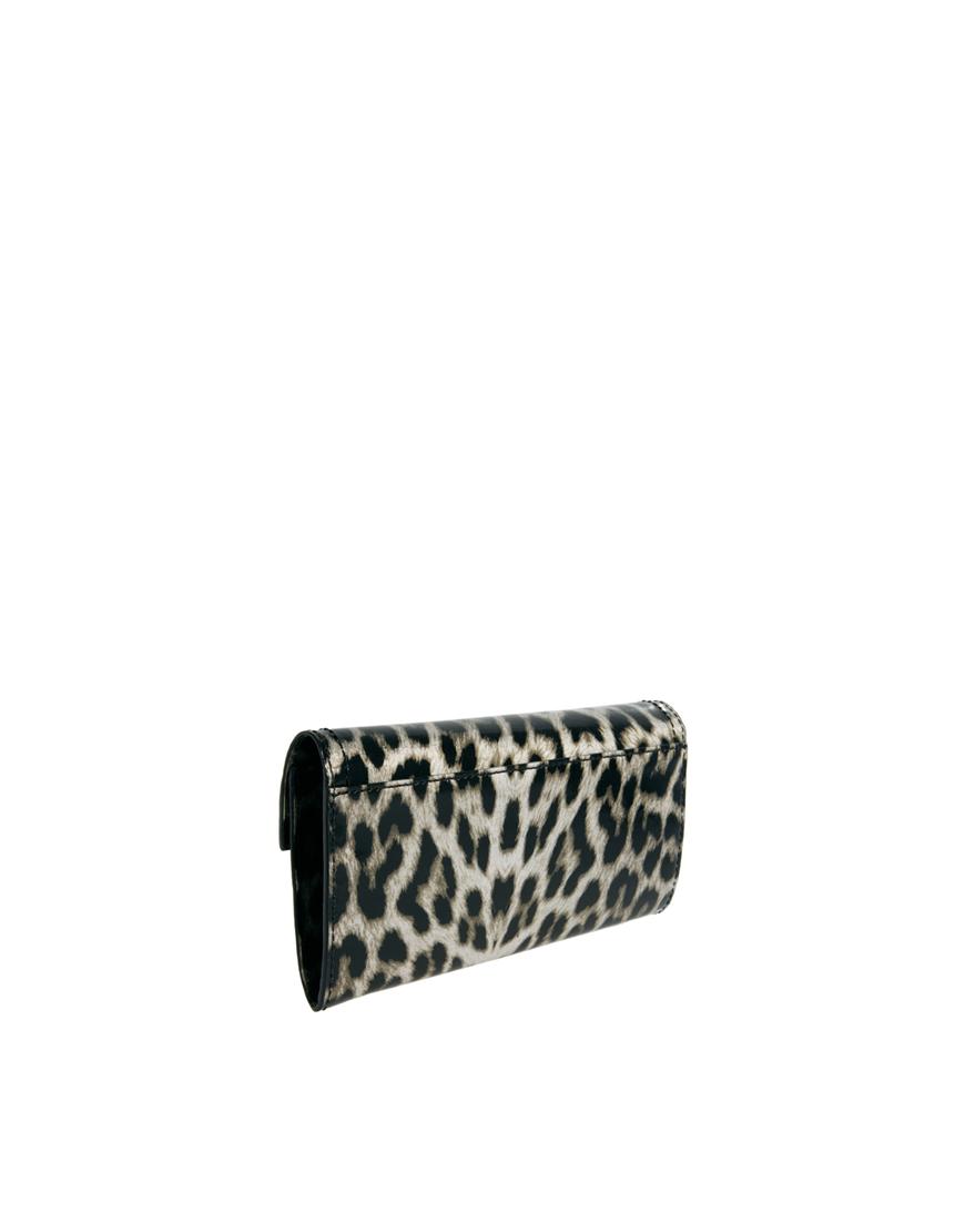 16bb24162d3 Karen Millen Km By Leopard Purse - Lyst