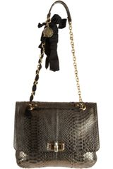 Lanvin Happy Medium Python Shoulder Bag in Gray (grey) - Lyst