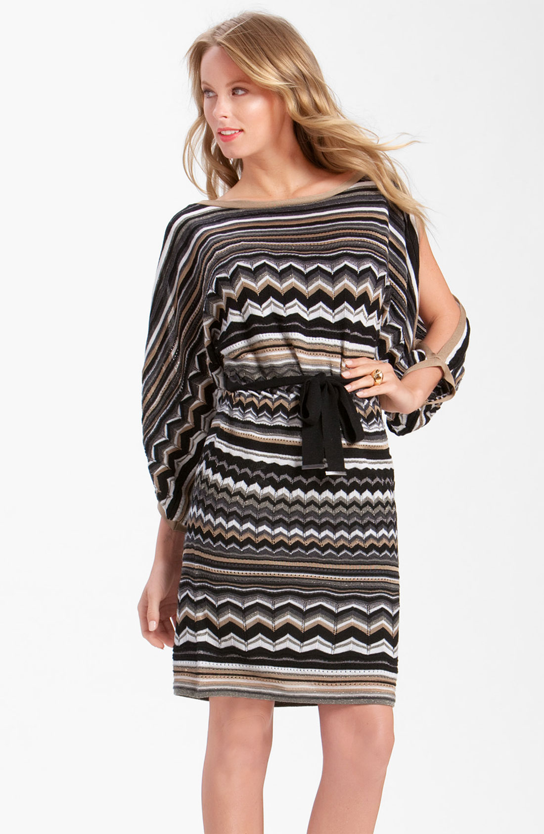 Laundry By Shelli Segal Split Sleeve Blouson Sweater Dress ...