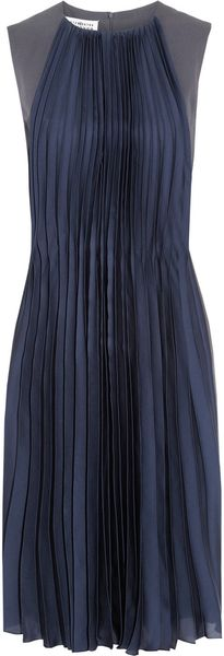 Maison Martin Margiela Crepe and Pleated Silk Dress - Lyst