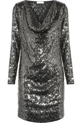 Michael by Michael Kors Draped Sequined Dress
