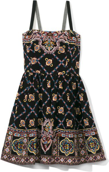 Nanette Lepore Bandana Print Blindfold Dress In Black