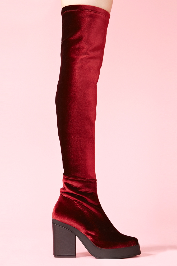 Wine Red Platform Shoes
