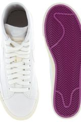 Nike Blazer High Top Sneakers in White (whitepurple) - Lyst