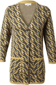 Opening Ceremony Jacquard Knitted Mercerized Wool Cardigan - Lyst
