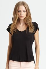 Rag & Bone Boyfriend Tee in Black - Lyst