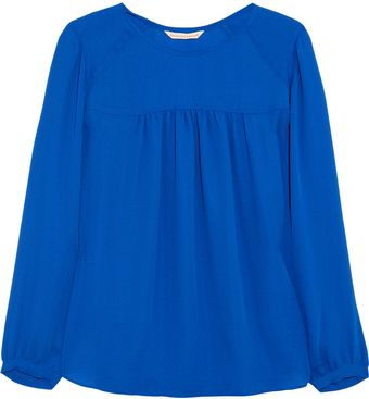 Rebecca Taylor Gathered Crepe Top - Lyst