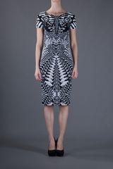 Roberto Cavalli Aztec Dress in Black - Lyst