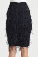 Sachin & Babi Lacey Ostrich Feather Skirt in Black (jet) - Lyst